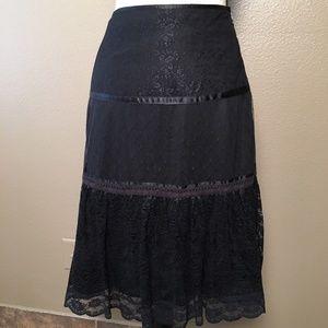 Club Monaco Black Lace Skirt - 0
